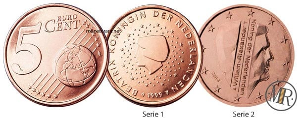 5 cent Netherlands Euro Coins