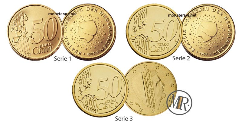 50 cent Netherlands Euro Coins