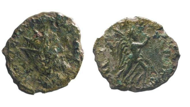 moneta romana con imperatore laeliano