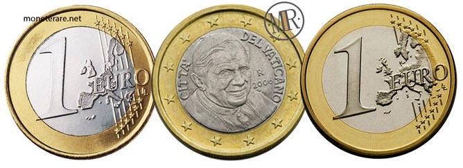 1 Euro Vatican Pope Benedict XVI 2006