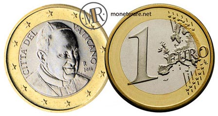 1 Euro Vatican Pope Francis 2016