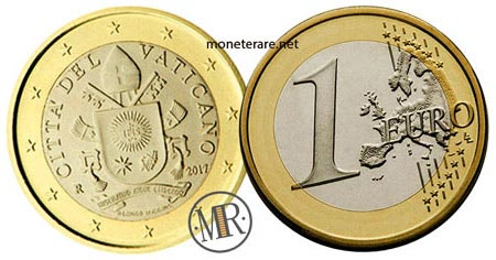 1 Euro Vatican Fifth series 2017