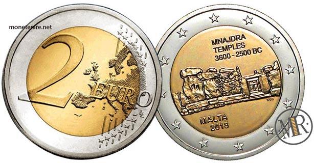 2 Euro Malta 2018 Coin – Temples of Mnajdra - value