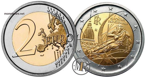 2 Euro Commemorativi Italia 2006 XX Giochi olimpici invernali di Torino