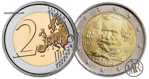 2 Euro Commemorativi Italia 2013 Giuseppe Verdi