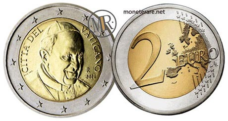 2 Euro Vatican Pope Francis 2014
