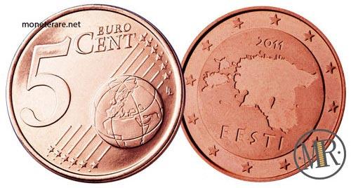 5 Centesimi Euro Estonia