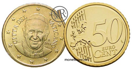 50 Cents Vatican Euro  Pope Francis 2016