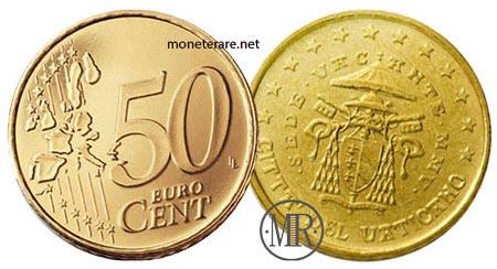 50 Cents Vatican Euro Coin 2005