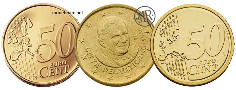 50 Cents Vatican Euro Pope Benedict XVI 2006