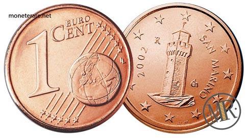 1 Centesimo di Euro  della repubblica di  San Marino Prima Serie