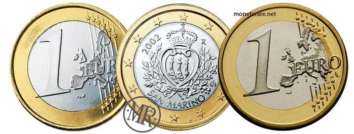 1 Euro San Marino Prima e Seconda Serie