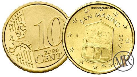10 Centesimi Euro San Marino Terza Serie