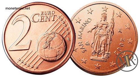 2 Centesimi di Euro  della repubblica di  San Marino Prima Serie