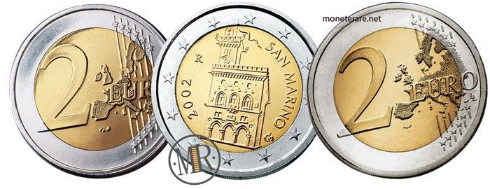 2 Euro della repubblica di San Marino Prima e Seconda Serie