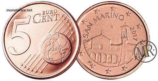 5 Centesimi Euro San Marino Seconda Serie