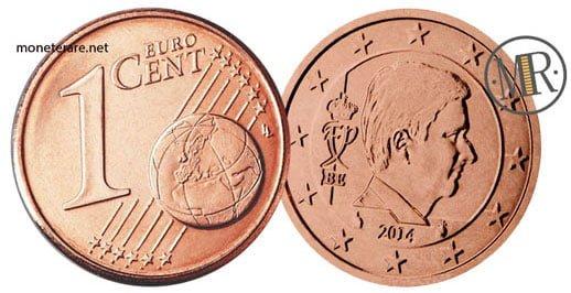 1 Centesimo Euro Belgio Quarta Serie 2014
