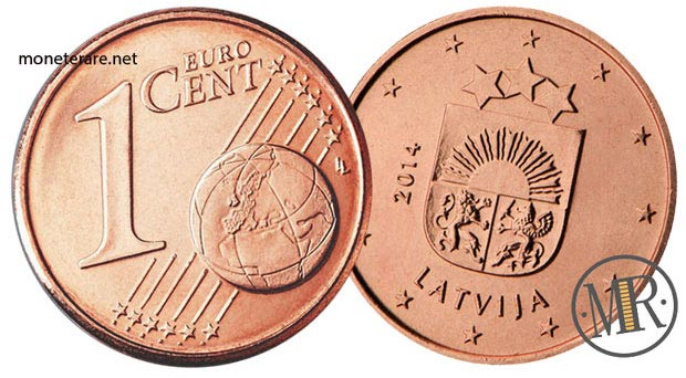 1 Centesimo Euro Lettonia