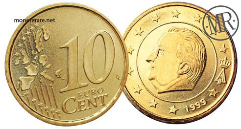 10 Centesimi Euro Belgio Prima Serie 1999 200610 Centesimi Euro Belgio Prima Serie 1999 2006