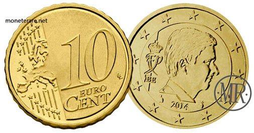 10 Centesimi Euro Belgio Quarta Serie 2014