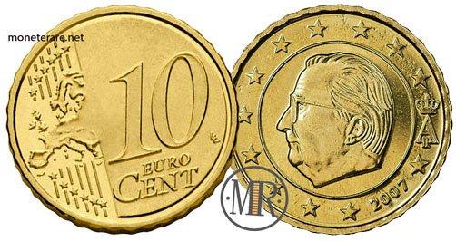 10 Centesimi Euro Belgio Seconda Serie 2007
