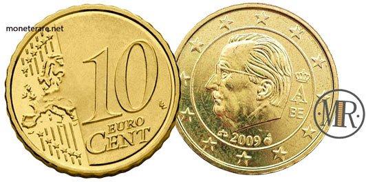 10 Centesimi Euro Belgio Terza Serie 2008 2013