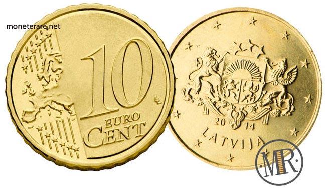 10 Centesimi Euro Lettonia