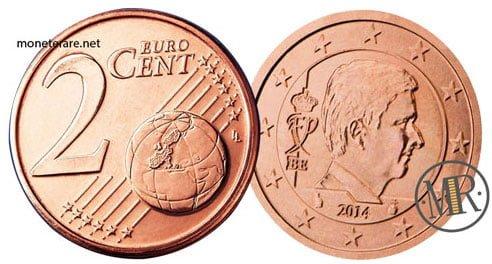 2 Centesimi Euro Belgio Quarta Serie 2014