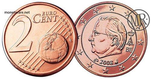 2 Centesimi Euro Belgio Seconda Serie 2008