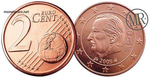 2 Centesimi Euro Belgio Terza Serie 2009 2013