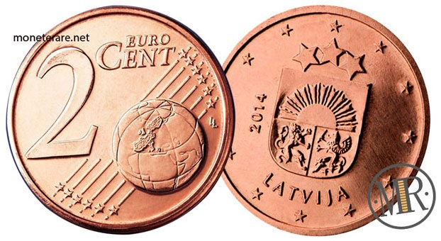 2 Centesimi Euro Lettonia