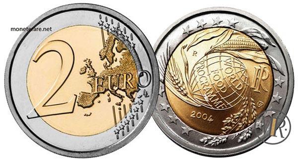 2 Euro Commemorativi Italia 2004 5° decennio di attività del World Food Programme