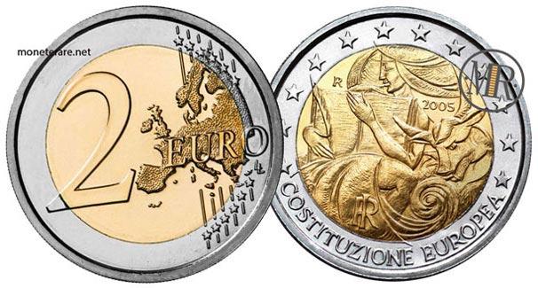 2 euro italia 2005 anniversario della firma della Costituzione Europea