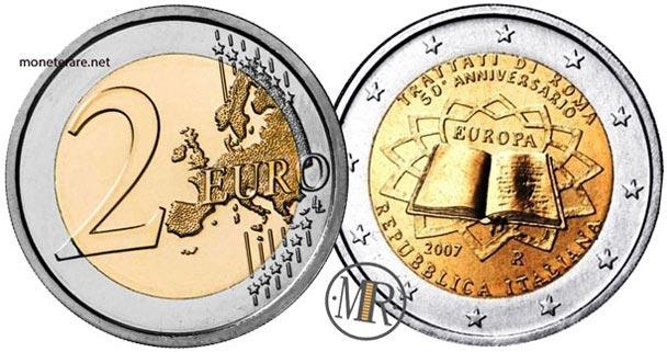 2 Euro Commemorativi Italia 2007 Cinquantenario dei Trattati di Roma