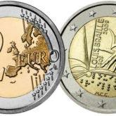 2 Euro Italia 2009 Braille