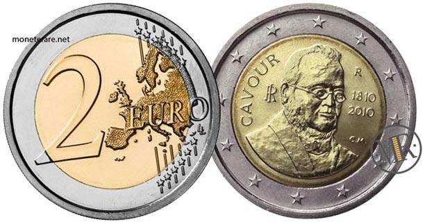 2 Euro Commemorativi Italia 2010 Duecentesimo anniversario della nascita di Cavour