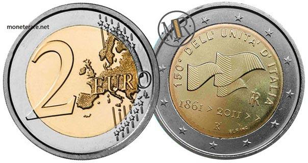 2 Euro Commemorativi 2011 150 Anni Unita Italia