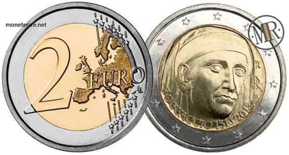 2 Euro Commemorativi Italia 2013 Settecentesimo anniversario della nascita di Giovanni Boccaccio