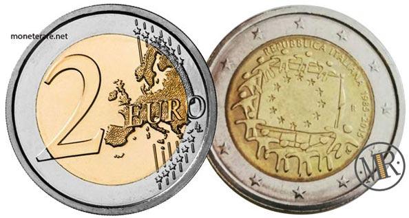 2 Euro Commemorativi Italia 2015 Bandiera Europea