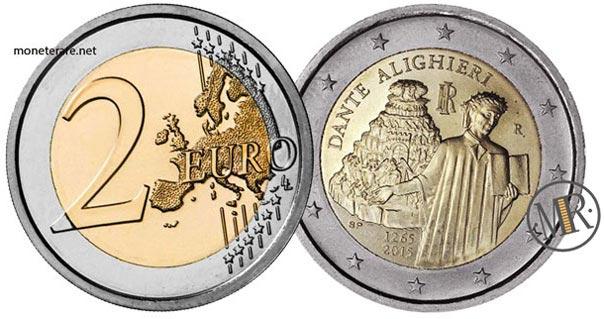 2 Euro Commemorativi Italiani 2015 Dante Alighieri