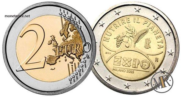 2 Euro Commemorativi Italia 2015 Expo Milano