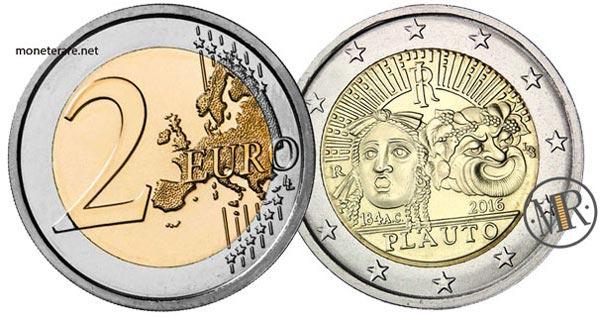 2 Euro Commemorativi Italiani 2016 Tito Maccio Plauto