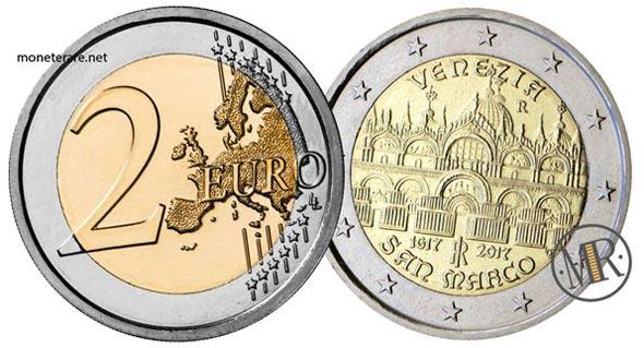 2 Euro Commemorativi Italiani 2017 Basilica di San Marco a Venezia