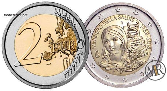 2 Euro Commemorativi Italia 2018 Sessantesimo Anniversario dell'istituzione del Ministero della Salute