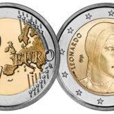 2 Euro Italia 2019 Leonardo