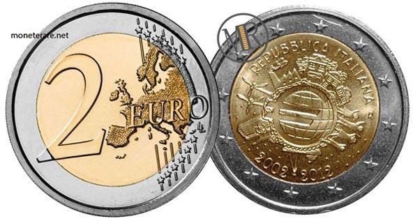 2 Euro Commemorativi 2012 anniversario dell'Euro