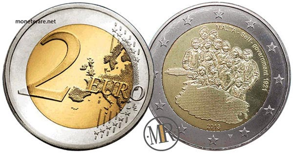 2 Euro Commemorativi Malta 2013 Governo autonomo del 1921