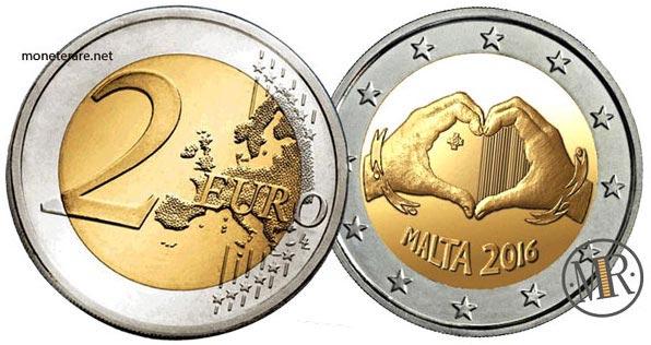 2 Euro Commemorativi Malta 2016 Amore