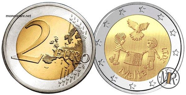 2 Euro Commemorativi Malta 2017 Pace