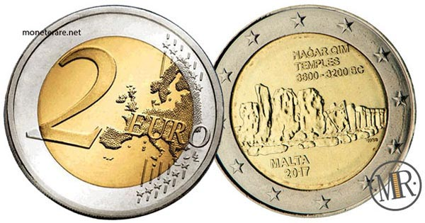 2 Euro Commemorativi 2018 Templi di Mnajdra